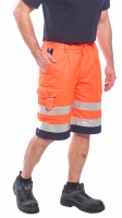 High Visibility Orange & Navy Portwest E043 Shorts EN ISO 20471